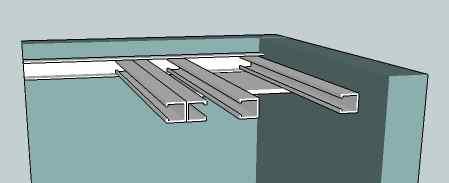 Rail m48 faux plafond isolation id es for Rail faux plafond suspendu
