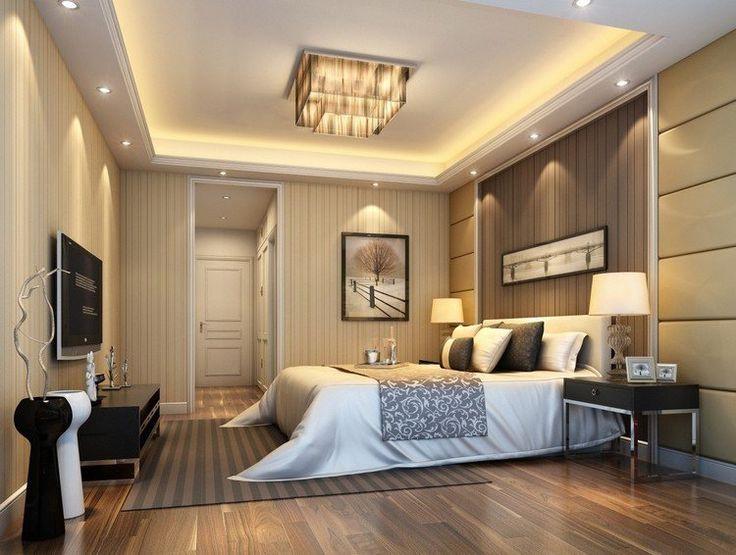 Faux plafond chambre à coucher design - Isolation idées
