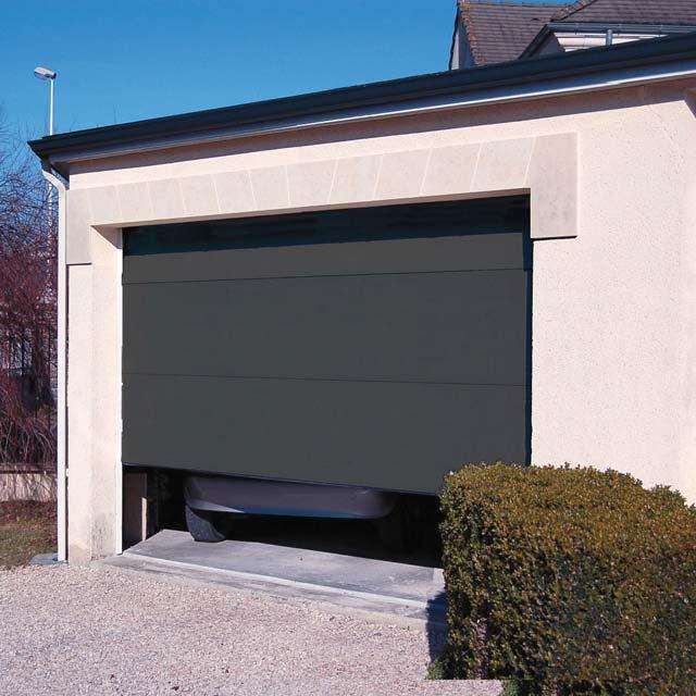 porte de garage grise anthracite isolation id es. Black Bedroom Furniture Sets. Home Design Ideas