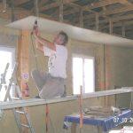 Faux plafond bois ajour isolation id es for Prix au m2 d un faux plafond