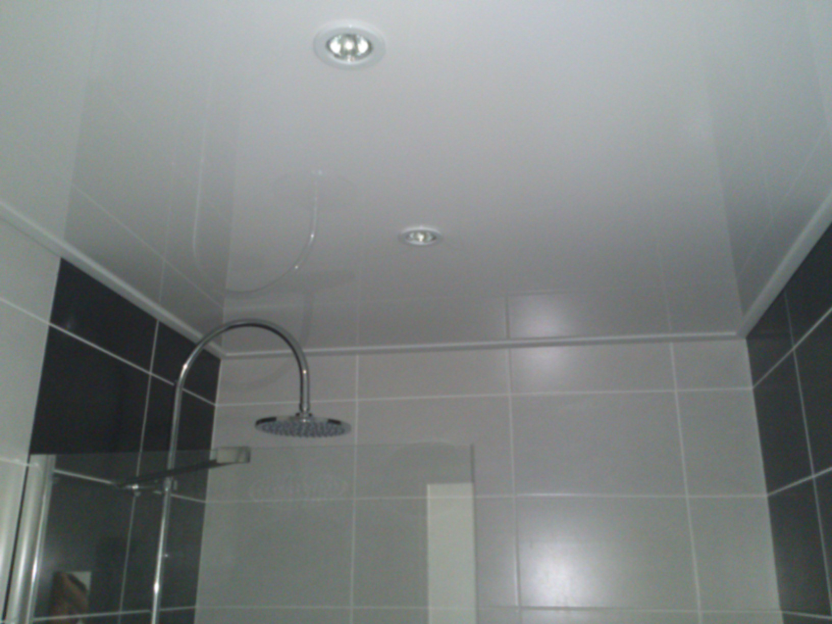 Plafond de salle de bain en pvc isolation id es for Luminaire salle de bain plafond