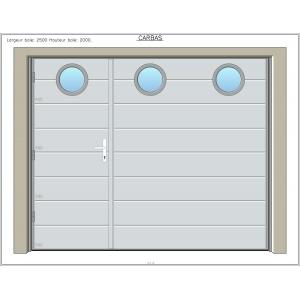 Prix porte de garage coulissante electrique noel 2017 for Porte de garage coulissante avec porte de service pvc
