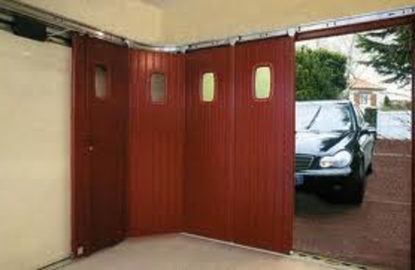 Porte de garage coulissante motorisee lapeyre isolation for Porte de garage coulissante avec porte pvc