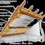 Coefficient isolation toiture