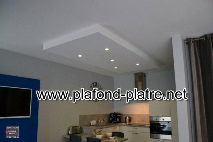 Cuisine faux plafond isolation id es - Decor platre pour cuisine ...