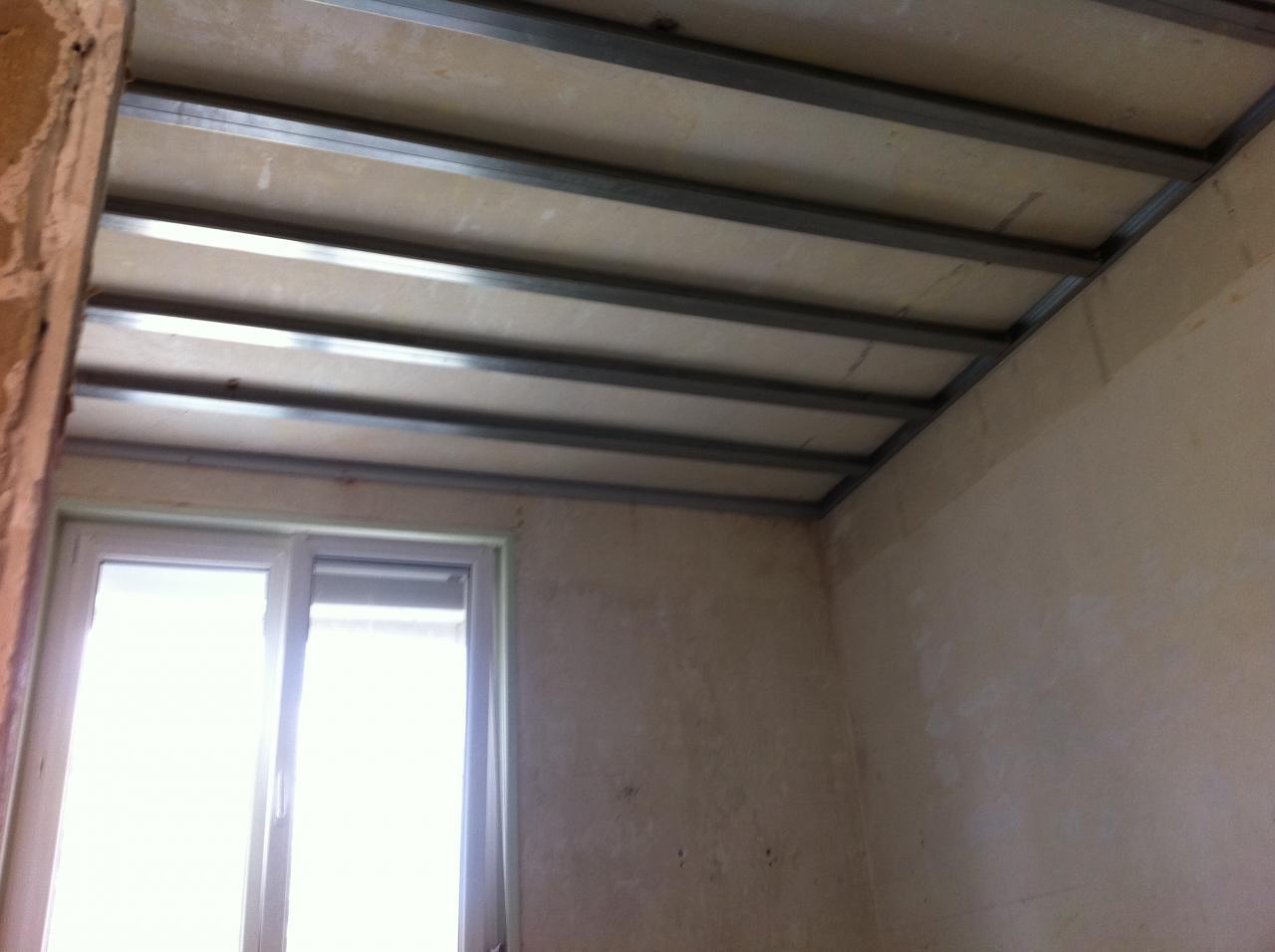 Quelle rail pour faux plafond isolation id es - Isolation faux plafond ...