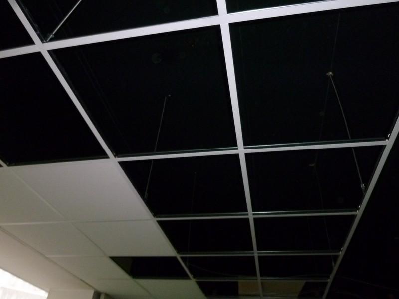 Faux plafond suspendu noir isolation id es for Isolation faux plafond