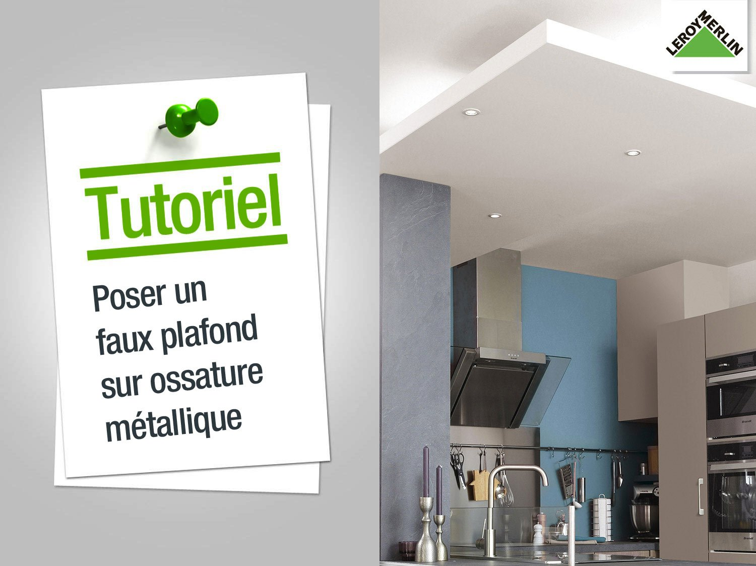 Comment poser un faux plafond pvc isolation id es for Comment faire un faux plafond