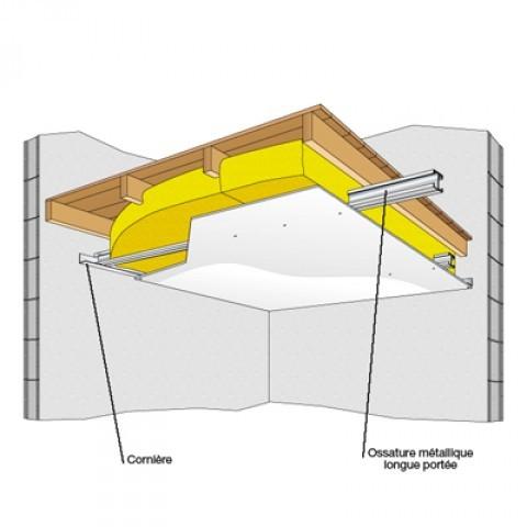 Faux plafond suspendu ossature bois isolation id es for Isolation phonique fenetre bois
