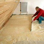 Isolation phonique sous plancher bois