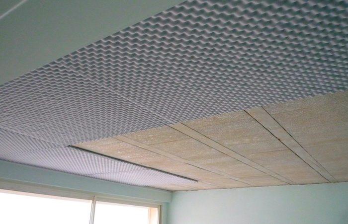 Isolation phonique d'un plafond placo
