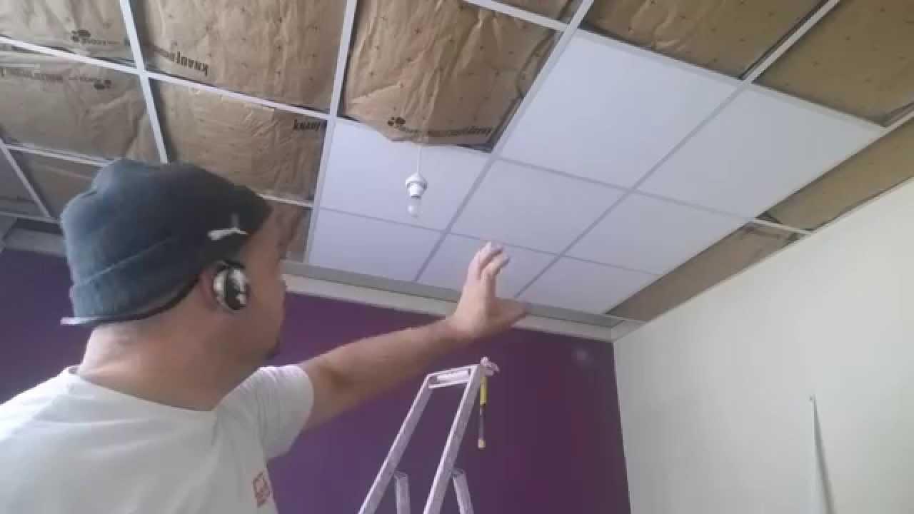 Faire faux plafond suspendu isolation id es for Faire faux plafond garage