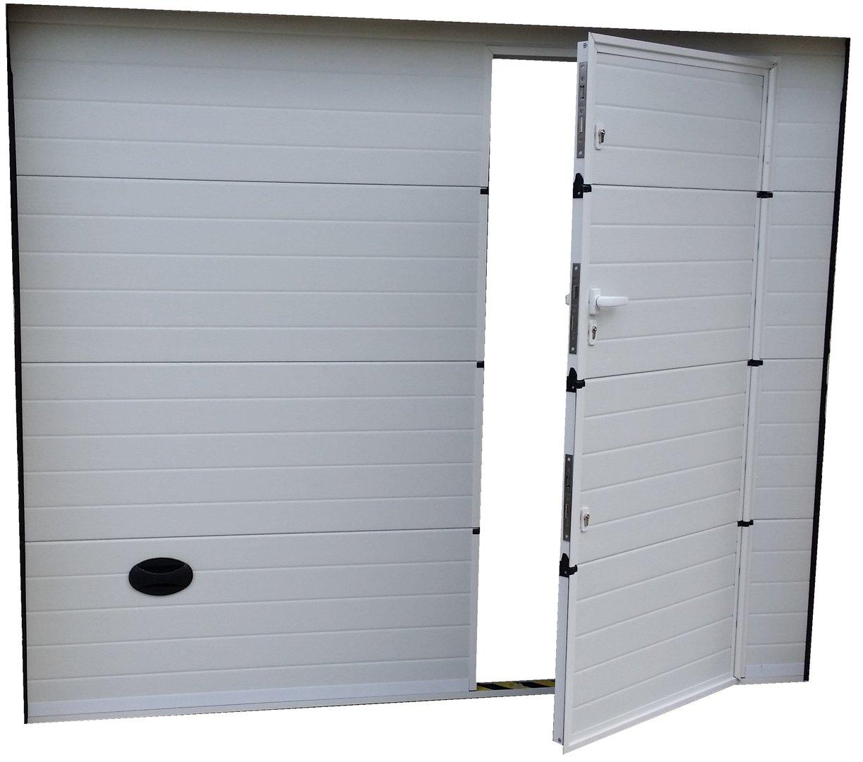 porte de garage avec porte de service isolation id es. Black Bedroom Furniture Sets. Home Design Ideas
