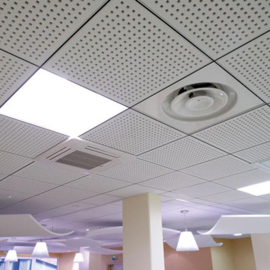 Plafond suspendu avec dalles isolation id es - Plafonds suspendus dalles decoratives ...