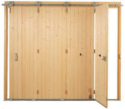 Porte de garage en bois coulissante isolation id es - Porte de garage bois coulissante ...