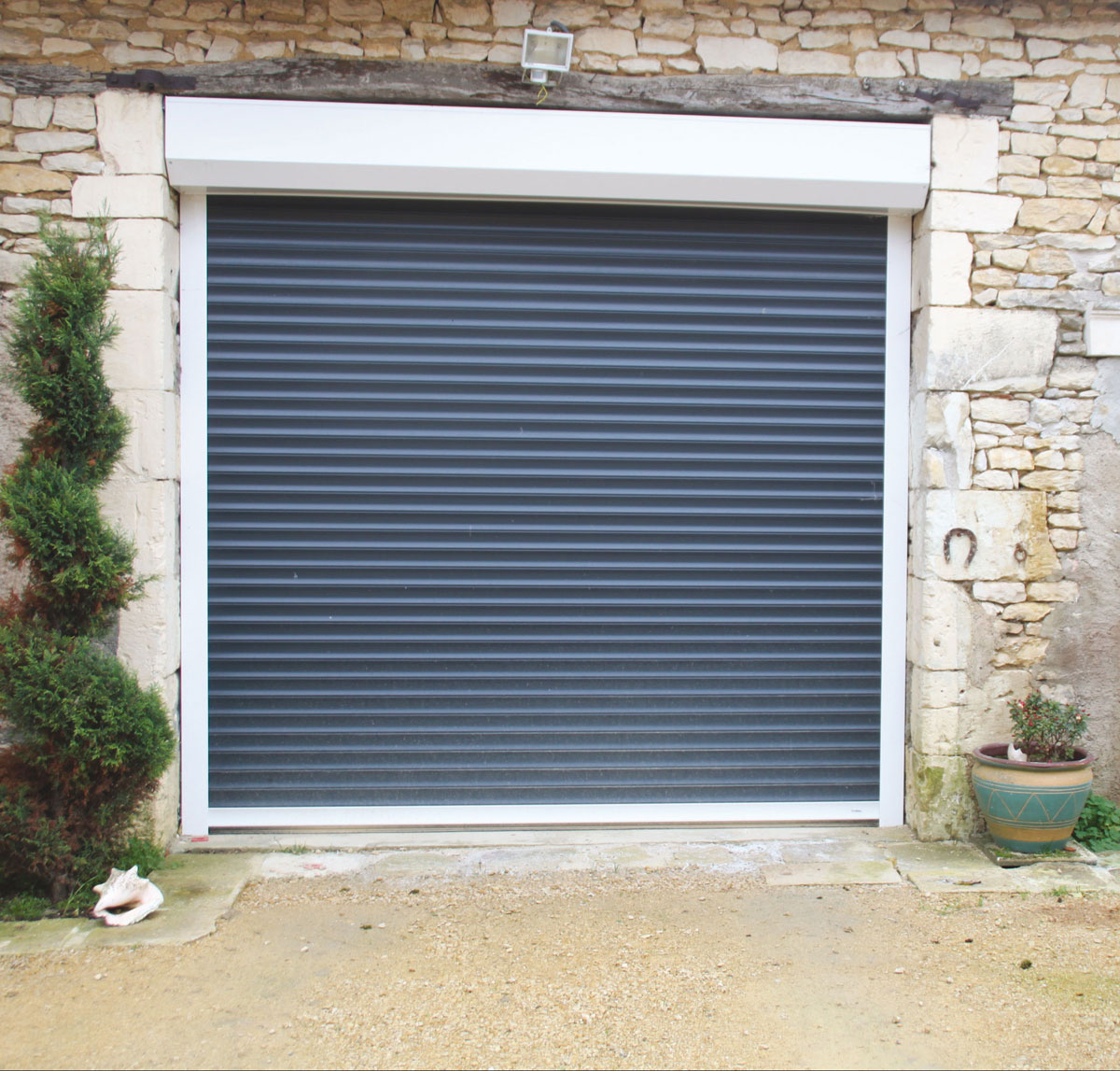 Porte de garage rouleau isolation id es - Rideau de garage enroulable ...