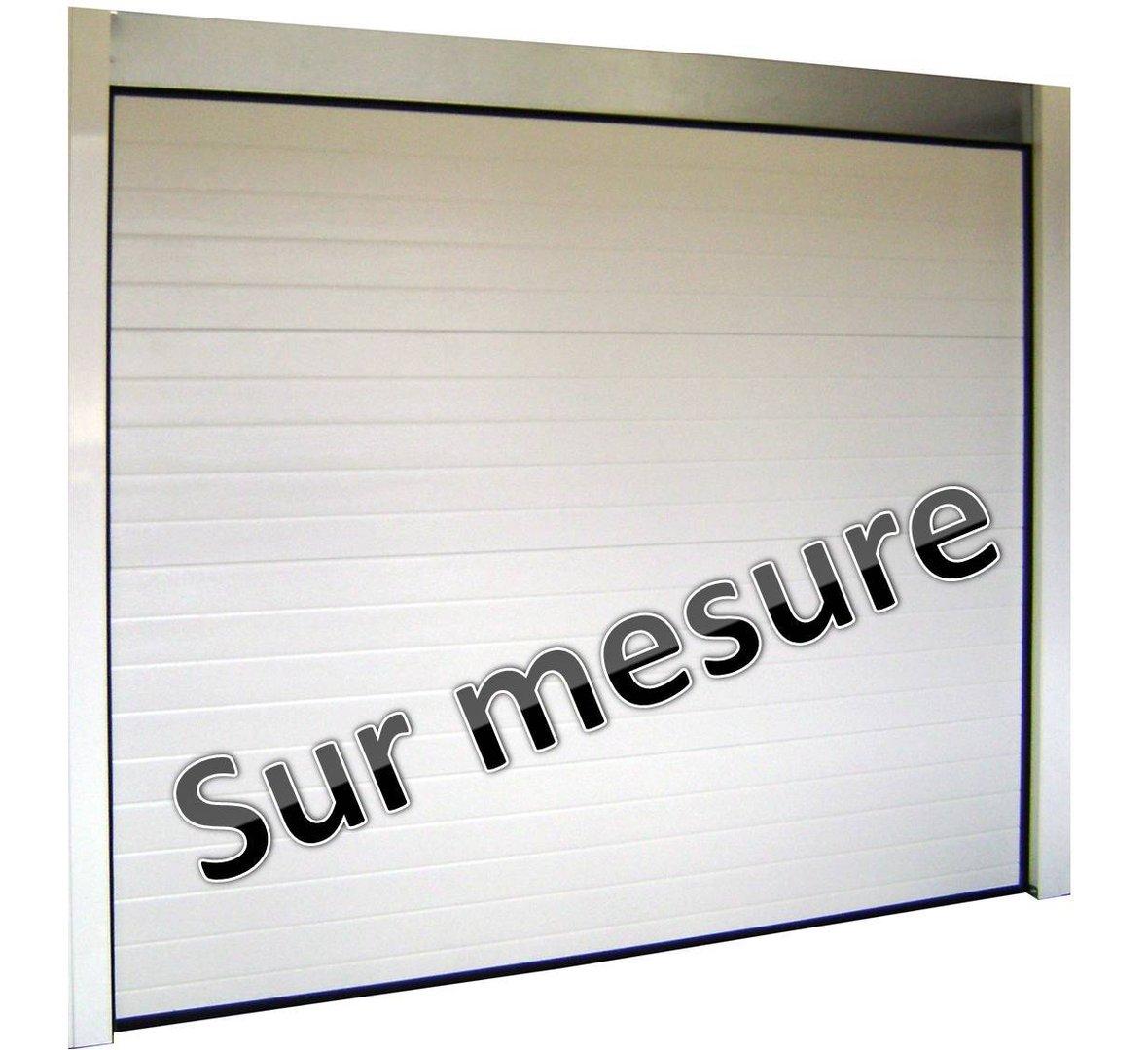 Porte de garage sectionnelle sur mesure isolation id es - Porte de garage enroulable motorisee sur mesure ...