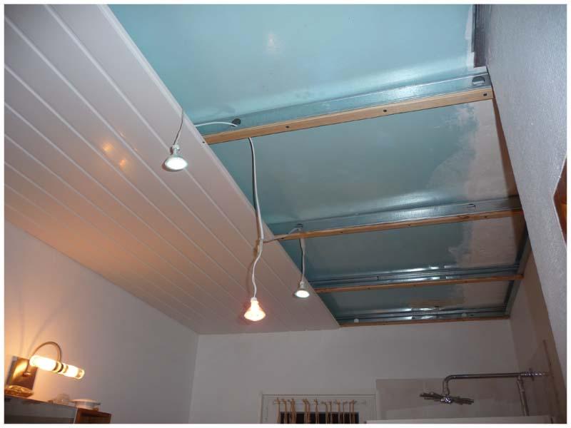 beautiful comment poser faux plafond pvc salle bain pictures ... - Comment Poser Du Lambris Pvc Dans Une Salle De Bain