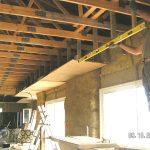 Plafond suspendu ossature bois