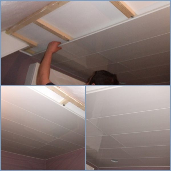 Beautiful comment poser faux plafond pvc salle bain pictures - Comment poser du lambris au plafond ...