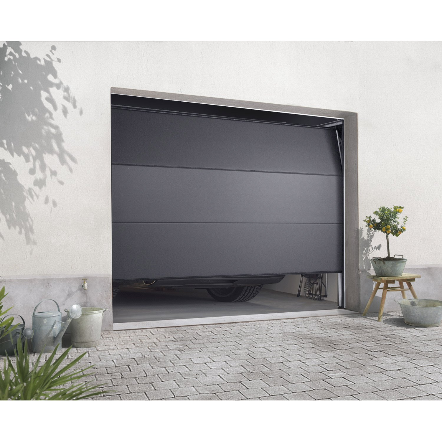 Porte de garage sectionnelle 300 x 215 isolation id es for Porte sectionnelle garage 3m