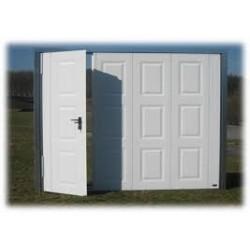 Porte de garage basculante grillagée