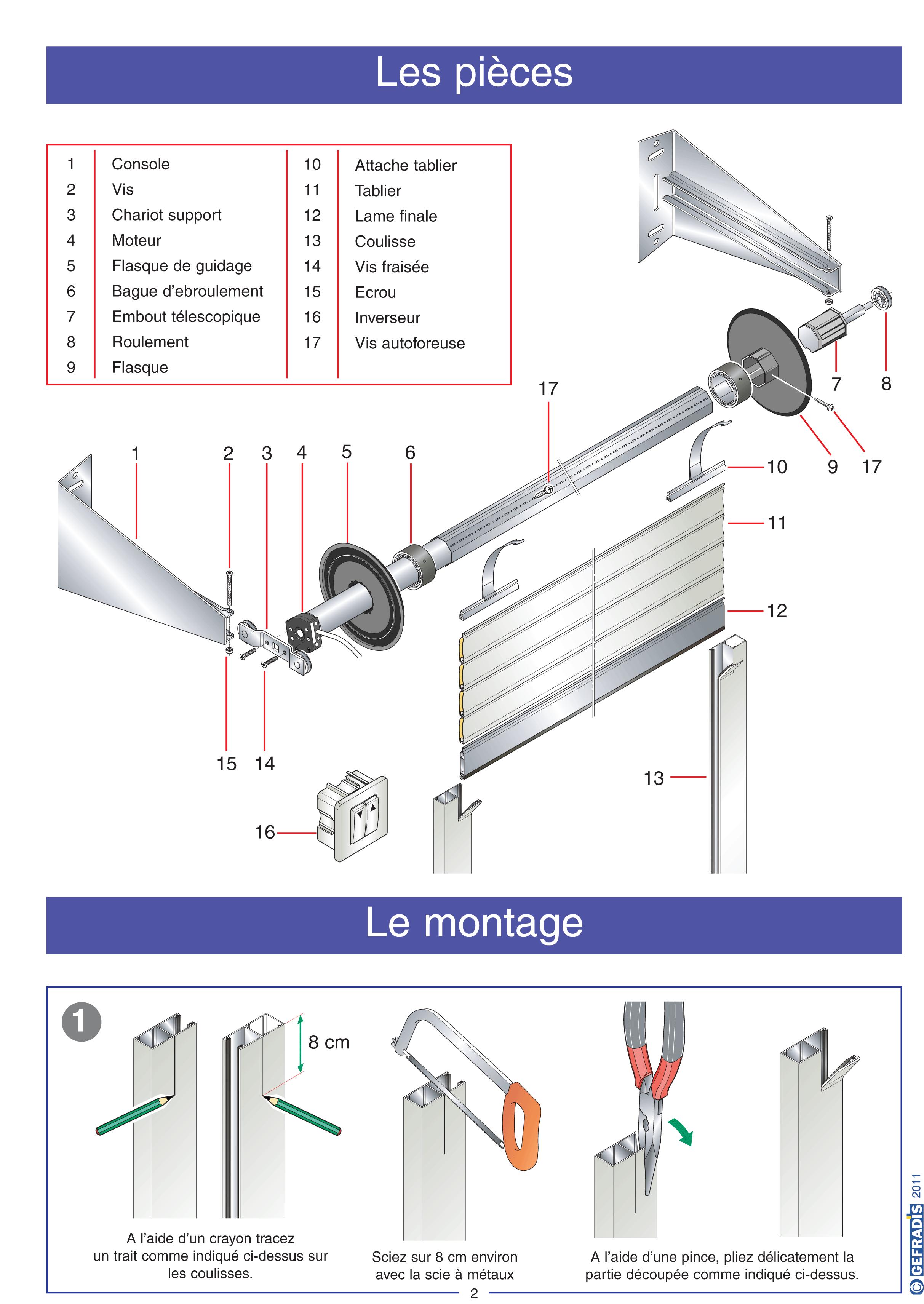 Porte de garage enroulable gefradis isolation id es - Montage porte de garage enroulable ...