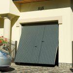 Porte de garage basculante portillon