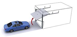 Porte de garage basculante d bordement isolation id es - Portail de garage basculant ...
