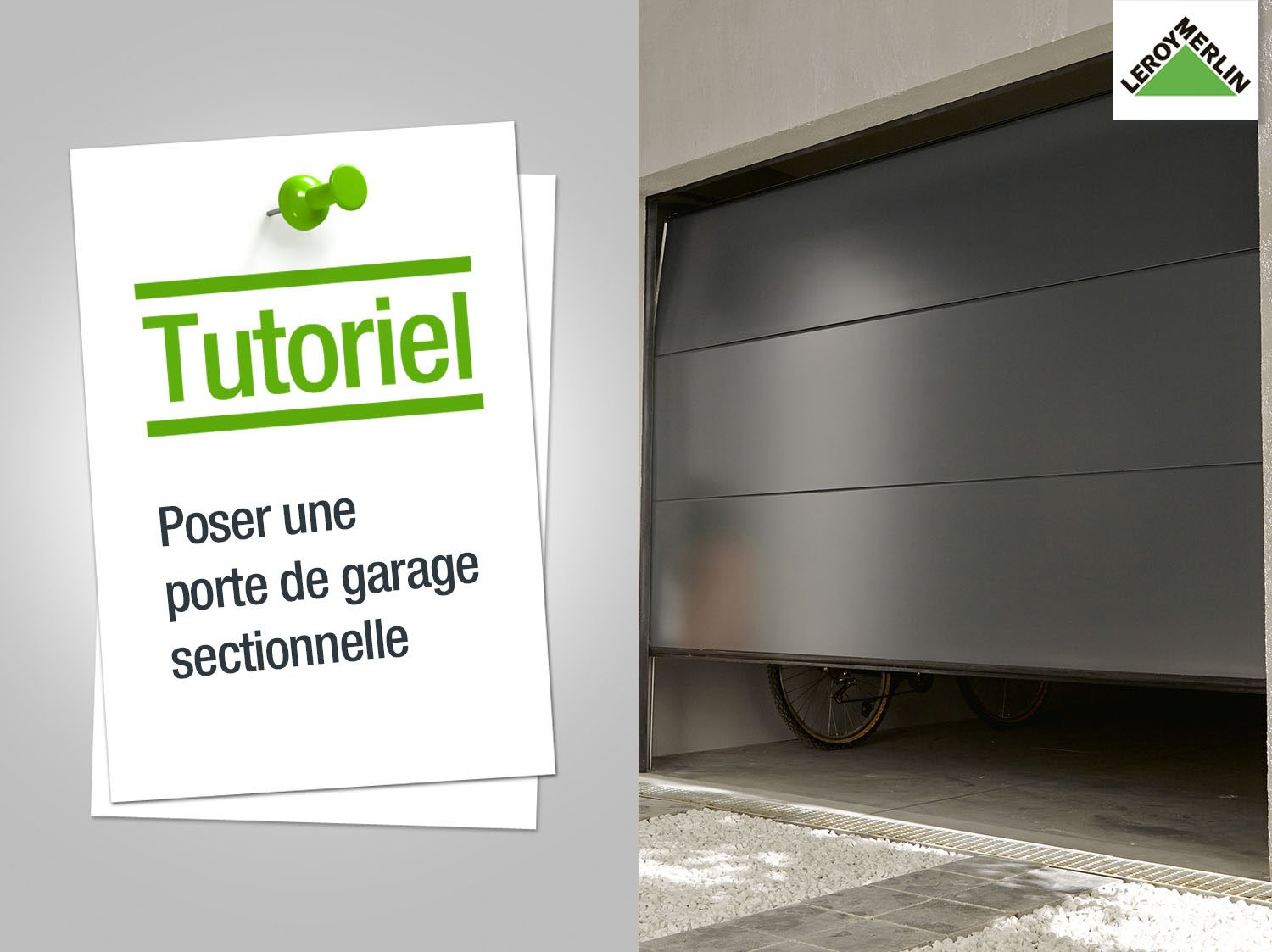 Porte de garage sectionnelle leroy merlin sur mesure - Porte de garage coulissante motorisee leroy merlin ...
