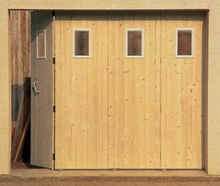 Porte de garage coulissante sur mesure prix isolation id es - Porte de garage bois coulissante ...