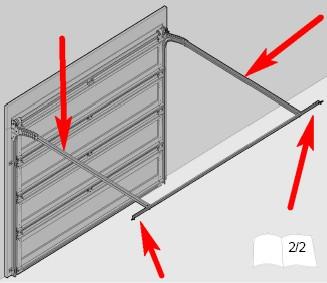 Porte de garage basculante fixation isolation id es - Montage porte de garage enroulable ...