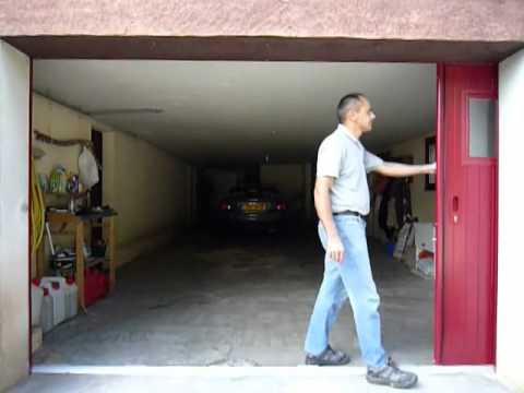 Porte de garage coulissante lat rale motoris e isolation - Prix porte garage sectionnelle motorisee ...