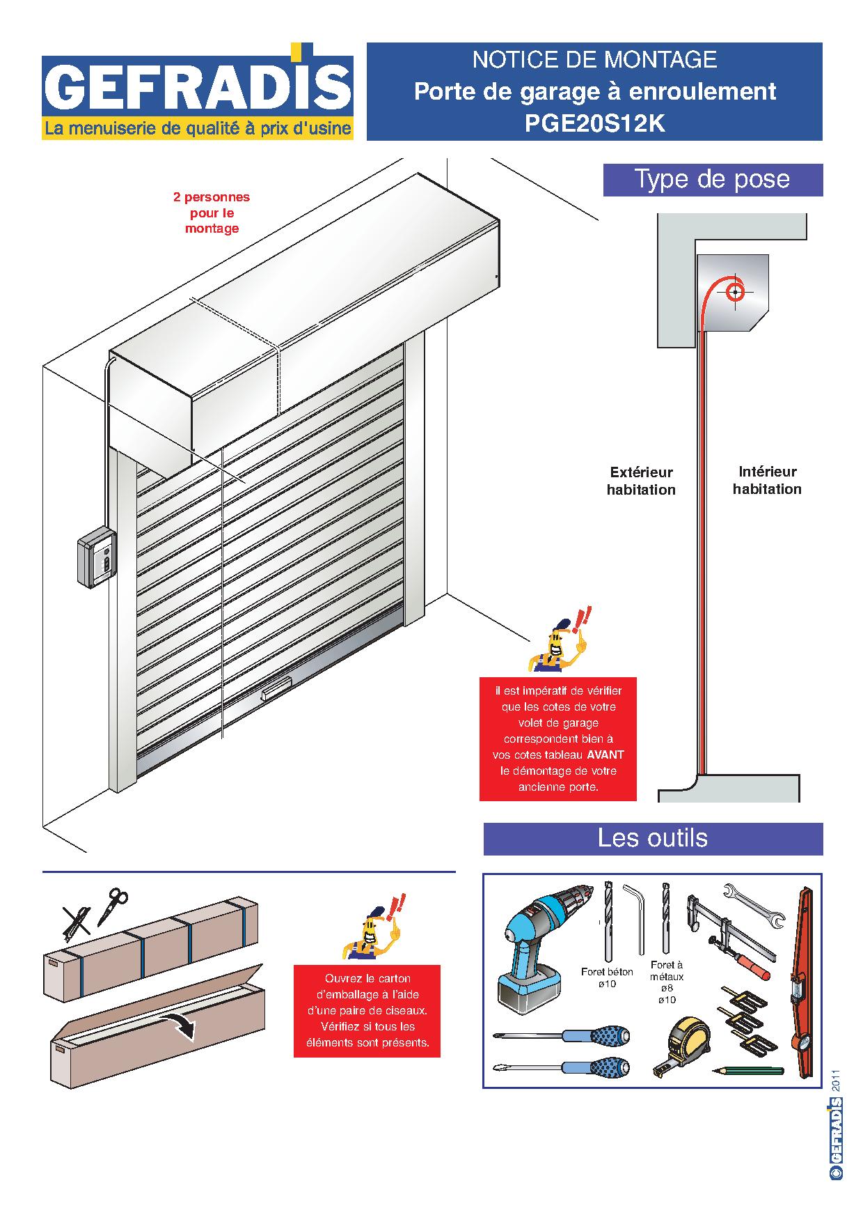 Notice montage porte de garage enroulable isolation id es - Montage porte de garage enroulable ...