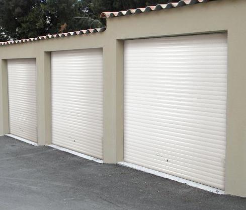 Porte de garage enroulable manuelle tirage direct - Montage porte de garage enroulable ...