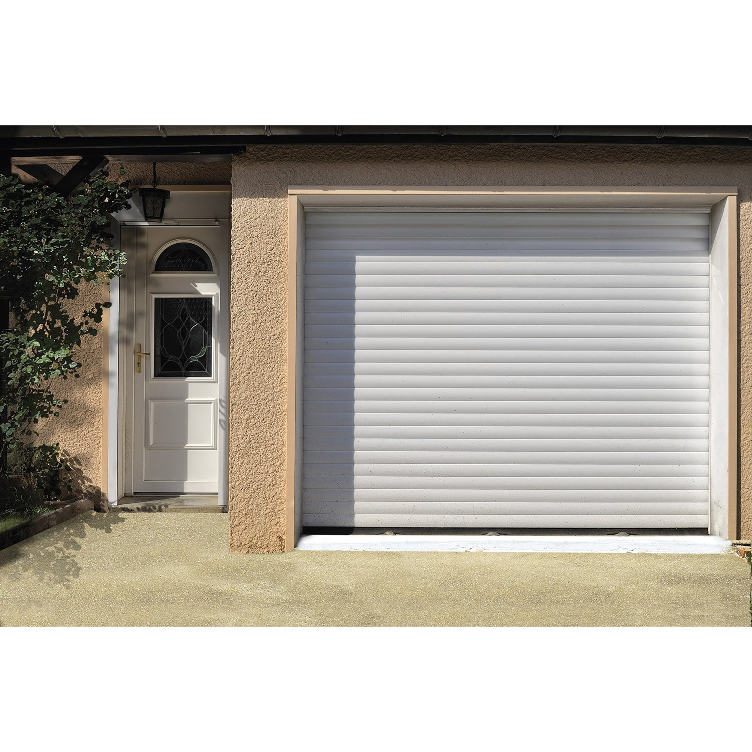 Porte de garage coulissante sur mesure leroy merlin - Isolation porte de garage coulissante ...