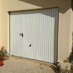 Porte de garage hormann avec portillon basculante