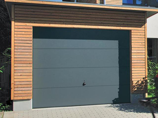 Porte de garage basculante anthracite isolation id es - Porte de garage sectionnelle gris anthracite ...