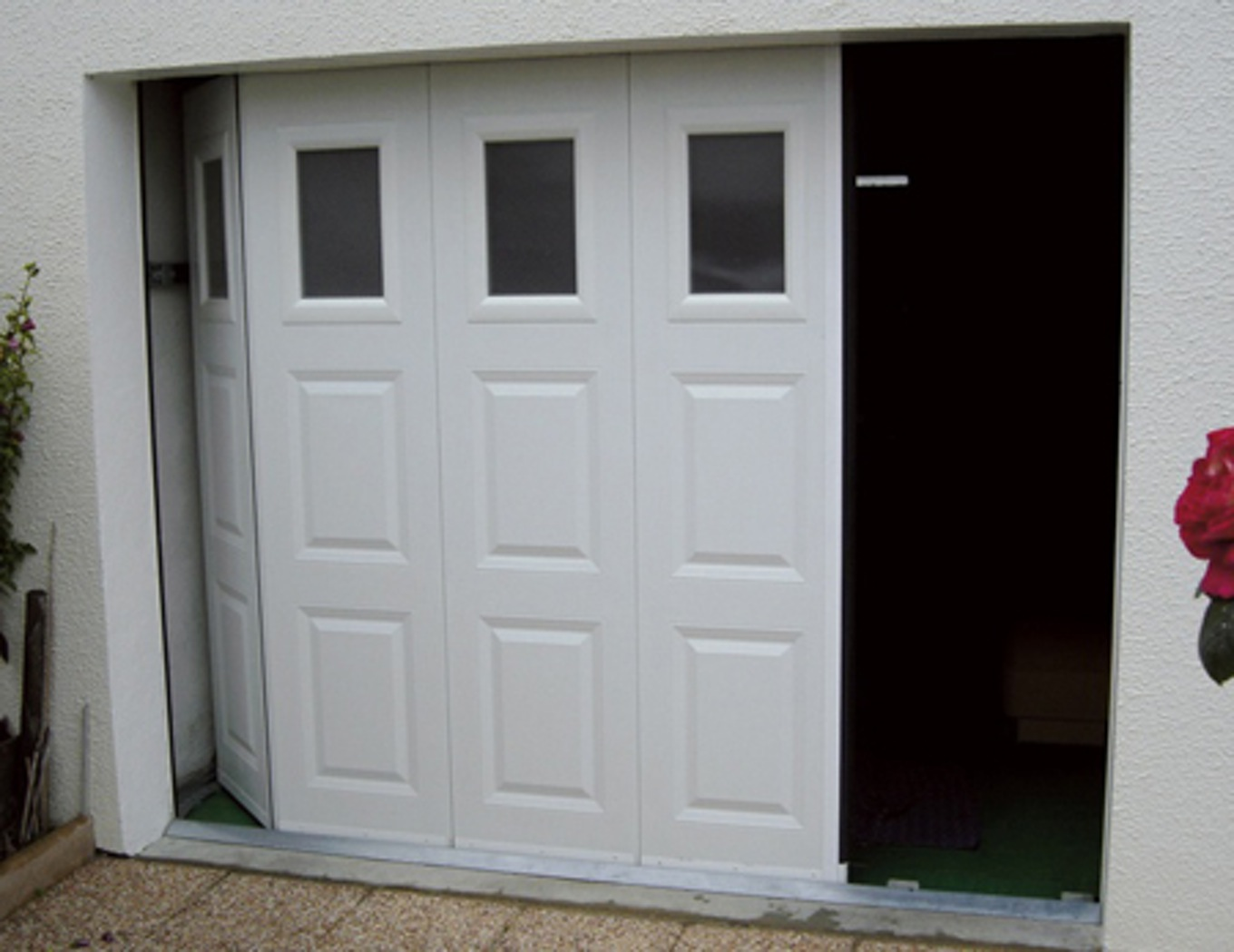 Porte de garage bois coulissante brico depot isolation id es - Porte de garage sectionnelle avec portillon leroy merlin ...