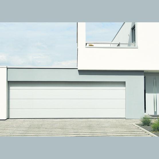 Porte de garage sectionnelle double isolation id es for Porte de garage 220 x 200