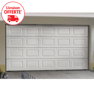 Porte de garage basculante motoris e sur mesure for Porte de garage sectionnelle sur mesure pas cher