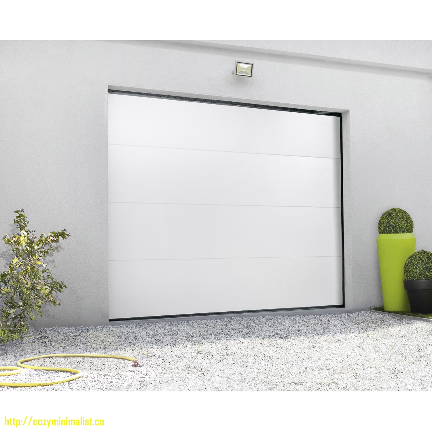 Porte de garage sectionnelle motoris e lapeyre isolation id es - Porte garage sectionnelle motorisee ...