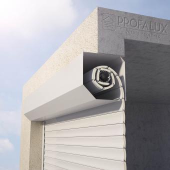 Porte de garage enroulable pose sous linteau isolation id es - Pose porte de garage enroulable ...