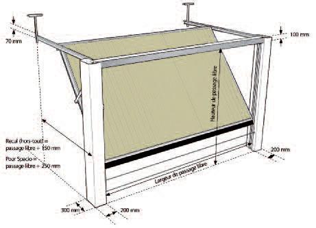 porte de garage basculante dimensions standard isolation. Black Bedroom Furniture Sets. Home Design Ideas