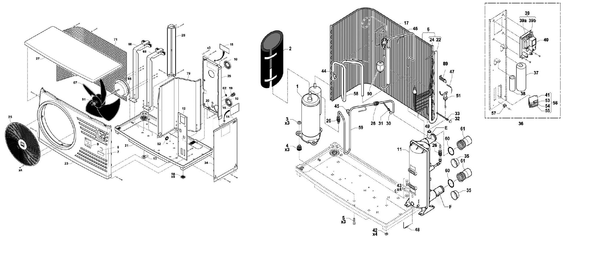 pompe chaleur zodiac pi ces d tach es isolation id es. Black Bedroom Furniture Sets. Home Design Ideas